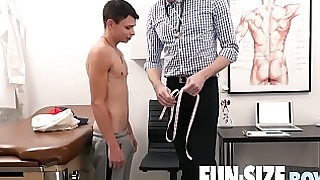 FunSizeBoys - Austin Young fucked bareback by hung doctor after physical